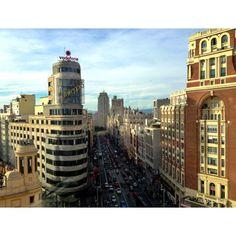 Gran Vía de Madrid. Photo by @Dolores Carr Glez Pastor