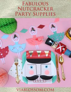 The most adorable Nutcracker Party Supplies!!  Ideal for a Sugar Plum Fairy Party!  Available at http://viablossom.com