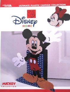 Ultimate Plastic Canvas Collection Booklet, Disney Home, Mickey Collection. The easy-to-stitch pieces in the big book let you decorate with Disney all through the house.  From wall hangings, coasters, balloon mobile, tissue box cover, magnets and more! You can surround yourself and the folks on your gift list with these wide-eyed cartoon characters.  $15.99