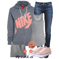 Sporty outfit.