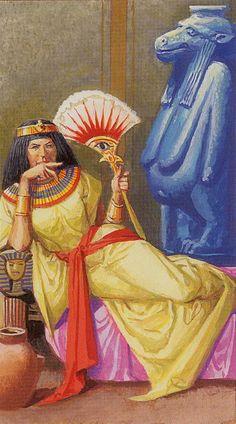 La reine de bâtons - Ramsès : Tarot de l'éternité par Severino Baraldi