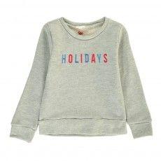 Glitter Lurex embroidered Sweatshirt Heather grey