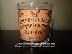 Halloween OUIJA votive candle holder by MYSTICALLYENCHANTING, $5.95