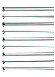 Sheet music blank print