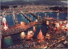 #Ganga_Aarti_at_Har_ki_Pauri - Trinity of Three #Gods  Daily Evening #Ganga_Aarti is performed at the #holy_ghat in #Haridwar, where hundreds of devotees from all over the world gather and offer their prayer to #Maa_Ganga.  One should definitely experience the pleasant #Ganga_Aarti_ceremony at #Har_ki_Pauri, Haridwar to achieve peace or Moksha!  Explore more at https://realhappiness.org/blog/  #Uttarakhand #Ganges #ganga #Sightseeing_in_Rishikesh #India #holy_river_of_india #real_happiness