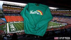 Fitted Hawaii Manoa Mist Crewneck Sweater!!! SO DOPE!