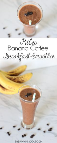 Paleo Banana Coffee Breakfast Smoothie | bydawnnicole.com