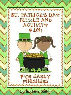 St. Patrick's Day Puzzle and Activity Fun for Early Finishers