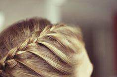 A  braided crown is a gorgeous desk to dinner accesory for your strong, beautiful hair #BestNightEver