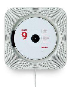 Wall-mounted CD player and radio, £125    By Muji    Buy online at muji.eu