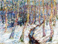 Betulle nella neve, Emil Nolde