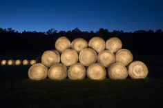 Hay Bales!  Momentary sculptures