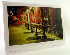 Cafe Art Photo Greeting Card  North Beach Cafe by sunsetshutterbug