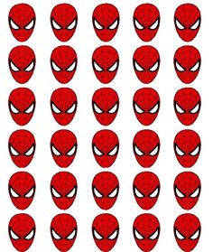 30 Spiderman Edible Rice Paper Cake/Cupcake Toppers/Decorations