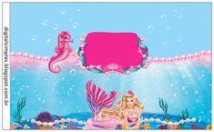 Kit Personalizado Tema Barbie Sereia das Pérolas - Convites Digitais Simples
