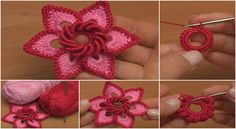 Crochet Flowers Tutorial – CRAFT-ADDICTS