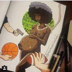 Black Art by Marcus Prime Black Love Art, Black Girl Art, Art Girl, Black Power, Prismacolor, Black Art Pictures, Oita, Black Artwork, Afro Art