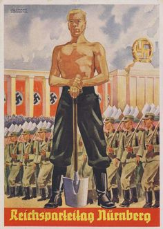 RAD, German NS postcard