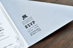 1920s Inspired Letterpress Wedding Invitations by Tere Hinojosa Creative via Oh So Beautiful Paper (6)
