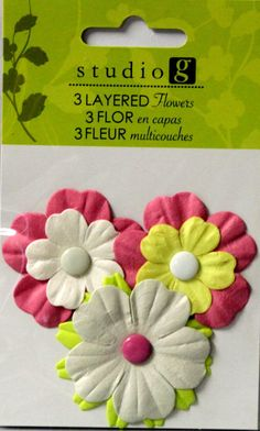 Studio G Layered Flowers Embellishments 4