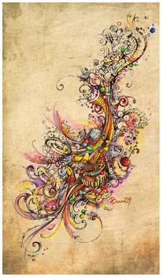 Drawings by Alexandra Bezrukova, via Behance
