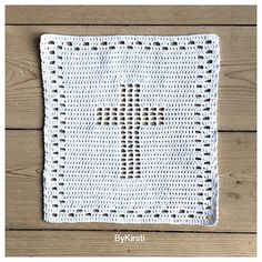 Ravelry: Christening cloth with cross pattern by Kirsti M. Testroote