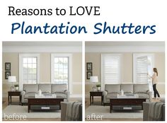 Plantation Shutters can increase the value of your home, reduce glare, and are easy to clean.