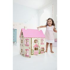 Buy George Home Wooden Dolls House from our Wooden Toys range today from ASDA. Silver award winner of Best Toddler Toy at the 2016 Mother & Baby Awards Wooden Dollhouse, Wooden Dolls, Dollhouse Furniture, Fairy Houses, Play Houses, All Toys, Kids Toys, Doll House Price, Best Toddler Toys