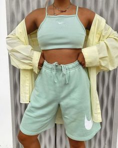 Cute Comfy Outfits, Sporty Outfits, Retro Outfits, Stylish Outfits, Summer Outfits, Fashion Outfits, Cute Nike Outfits, Gym Outfits, Lazy Outfits