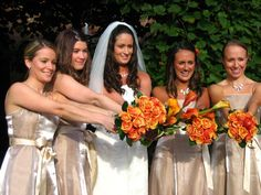 Honey pretty color for bridemaids