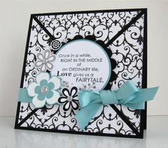 A Fairytale Wedding Card by tessa. - Cards and Paper Crafts at Splitcoaststampers Wedding Anniversary Cards, Wedding Cards, Our Wedding, Wedding Invitations, Wedding Ideas, Paper Crafts Magazine, Spellbinders Cards, Flower Stamp, 15th Birthday