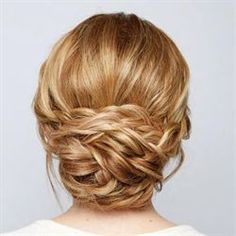 Behind The Chair - Step-By-Steps braided chignon.