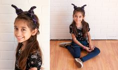Use a headband and some simple craft supplies to make Maleficent Horns for yourself or your little one.