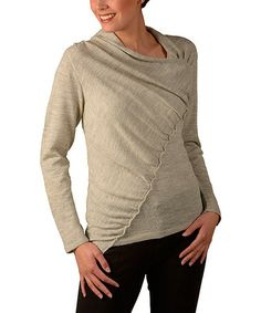 Look what I found on #zulily! Algodón Beige Laudee Alpaca Sweater by KUNA #zulilyfinds