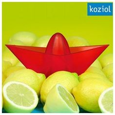 Koziol Ahoi Boat Lemon Squeezer Add a colorful note and fun to your kitchen with «Ahoi Boat»!