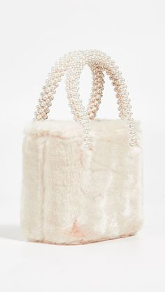 The Daily Hunt: A Playful Faux Fur Bag and more! Tod Bag, Fur Accessories, Beaded Bags, Cute Bags, Luxury Bags, Natural Leather, Buy Shoes, Shoes Heels, Types Of Shoes