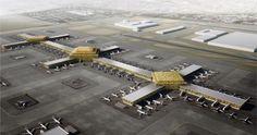 International airport in Dubai World Central by Leslie Jones Architecture