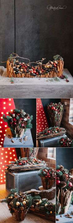 Новогодние композиции для бутика Emporio