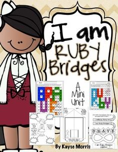 Ruby Bridges Ruby Bridges Black History Month Ruby Bridges : Teach students about one of our American heroes, Ruby Bridges! This unit is excellent to use during Black History Month in February or any other time of the year. Students will love learning about Ruby Bridges and participating in these activities and crafts!  Key Words: Ruby Bridges, Ruby Bridges Mini Unit, Ruby Bridges Work sheets, Ruby Bridges,Keywords: Ruby Bridges, Ruby Bridges