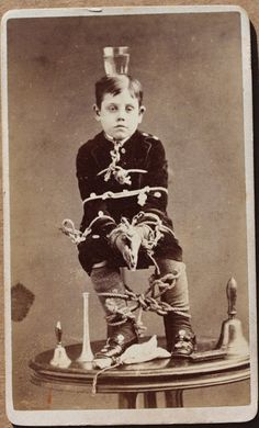 Anonymous (would love to know the story behind this picture! He must have been quite a troublesome child!)