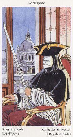 King of Swords  - Tarot of Casanova by Luca Raimondo