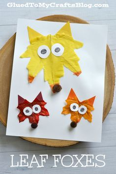 Make leaf foxes with the kids this fall!