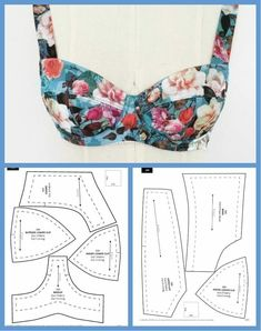Aprende hacer estos hermosos traje de baños con patrones paso a paso! Source by antoniettacarde VEJA MAIS ant., Aprende hacer estos hermosos traje de baños con patrones paso a paso! Sewing Bras, Sewing Lingerie, Sewing Clothes, Diy Clothes, Underwear Pattern, Bra Pattern, Crochet Pattern, Costura Fashion, Dress Sewing Patterns