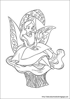 alice in wonderland printable coloring pages.html