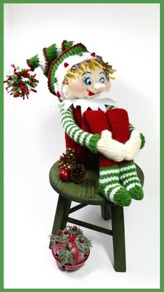 Get Your Free Knitting Patterns for your next Knitting Project at Authentic Knitting Board Today! Loom Knitting Projects, Loom Knitting Patterns, Christmas Knitting Patterns, Free Knitting, Crochet Projects, Crochet Patterns, Knitting Looms, Knitted Dolls, Crochet Toys