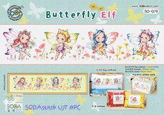 Farfalla Elf Cross stitch pattern libro. di GeniesCrossstitch