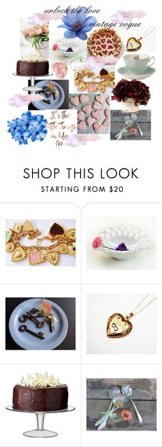 """""""Vintage at Etsy with Vogueteam!"""" by used2bnewvintage on Polyvore featuring interior, interiors, interior design, home, home decor, interior decorating, ESCADA, LSA International and vintage"""