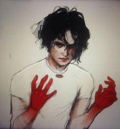 Meg White, Jack White, The White Stripes, Shades Of White, Art Inspo, Illustration Art, Illustrations, Cool Art, Digital Art