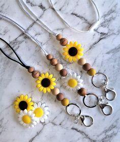 Boho Sunflower lanyard Teacher/Business Lanyard Personalised   Etsy You At Work, Sunflower Gifts, Little Birdie, Sweet Peach, Yellow Flowers, Flower Designs, Teacher Gifts, Personalized Gifts, Summer Outfits