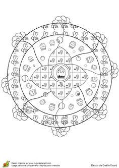Mandala Gateau Fondants Art D Enfant Coloriage Mandala
